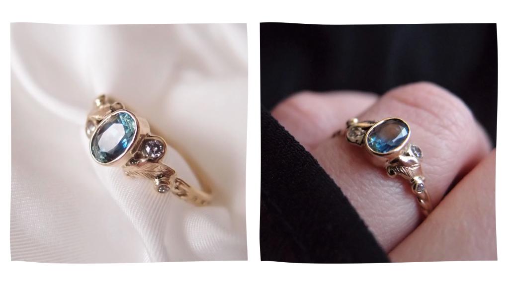 biżuteria złoty pierścionek