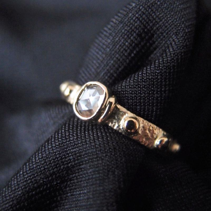 zloty pierscionek rozaniec - gold finger rosary