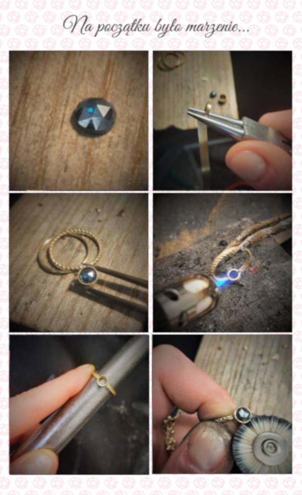 Proces powstawanie pierścionka zaręczynowego na zamówienie w pracowni Lookrecya